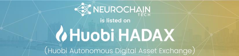 NeuroChain Huobi HADAX Exchange