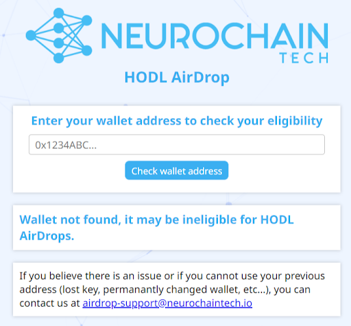 NeuroChain airdrop