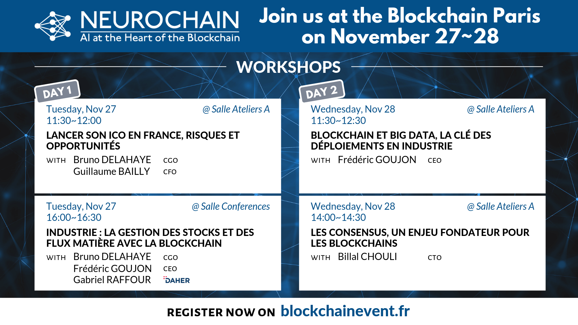 Join us at the Blockchain Paris on November 27_28