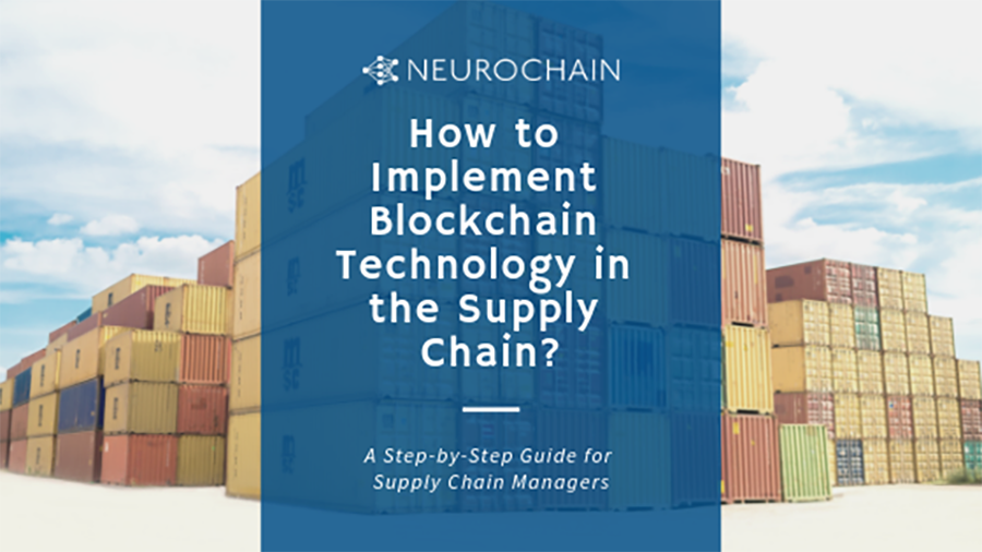 NeuroChain supply chain guide